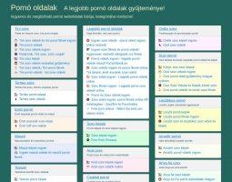 Legjobb magyar pornó oldalak
